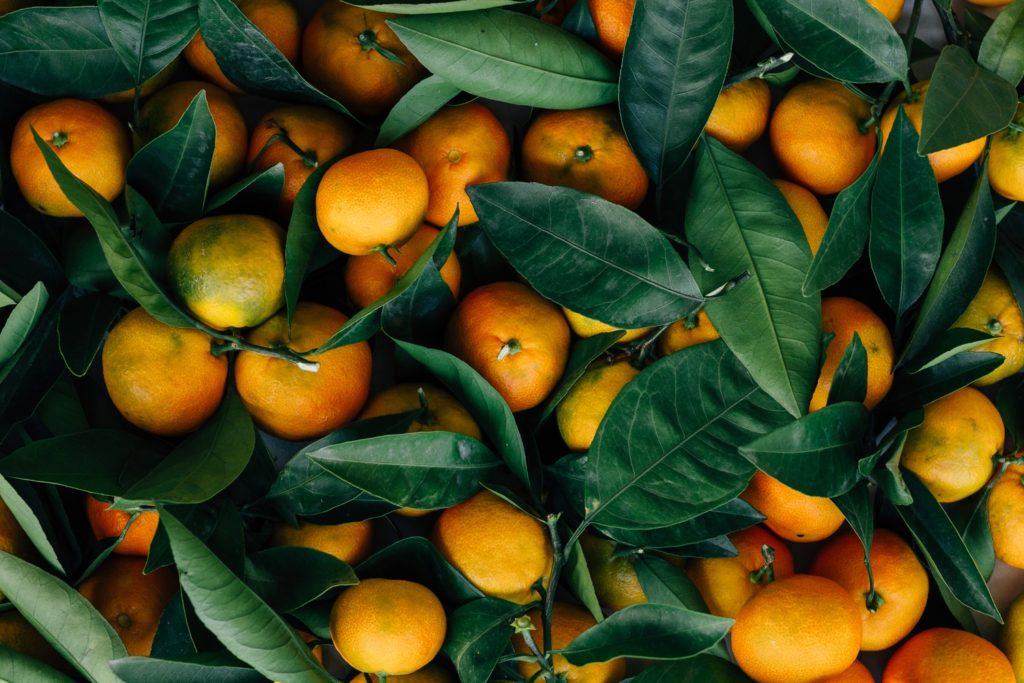 a pile of oranges